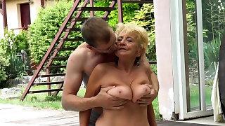 Poolside granny..