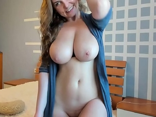 mom's huge tits on..